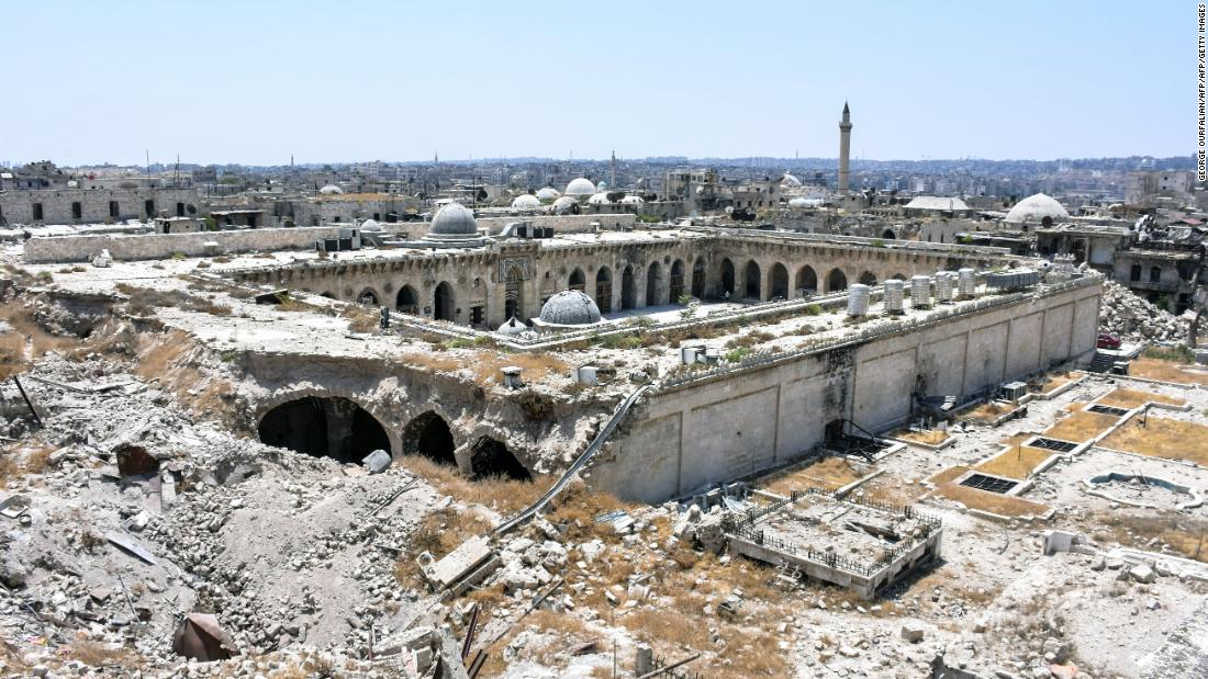 Aleppo's Great Umayyad Mosque, pictured on July 22, 2017.
